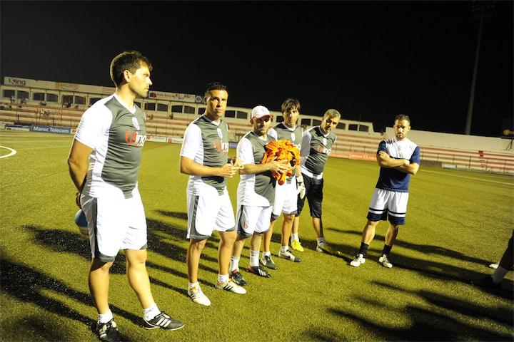خيسوس رودريغيز في أول حصة تدريبية مع المغرب التطواني