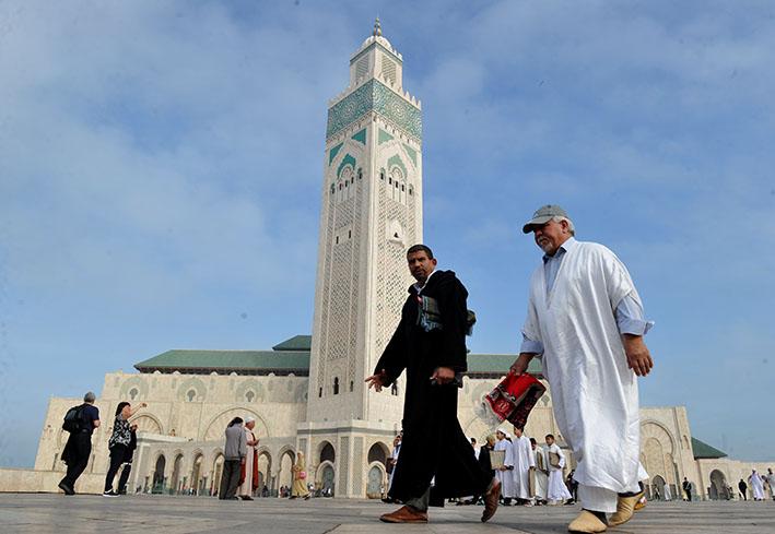 مسجد الحسن الثاني بالدار البيضاء - ارشيف