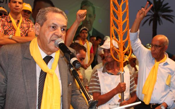 امين عام حزب الحركة الشعبية امحند العنصر في لقاء حزبي - ارشيف
