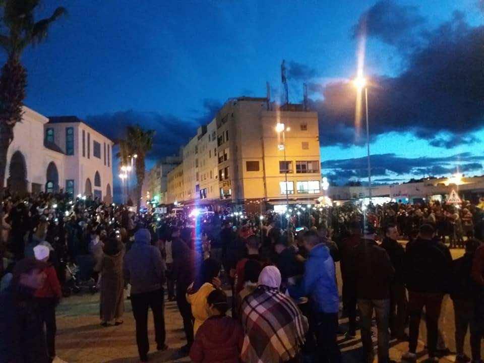 مظاهرات بالفنيدق في فبراير الفائت